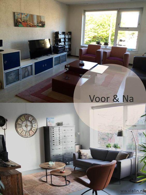 voor en na interieuradvies woonkamer leeuwarden friesland1 | via, Deco ideeën
