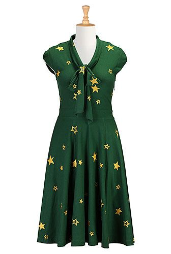 Starry nights knit dress in #Baylor green & gold! #SicEm