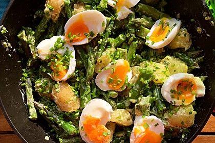 Grüner Spargel mit Kartoffeln, Ei und selbst gemachter Mayonnaise (Rezept mit Bild) | Chefkoch.de