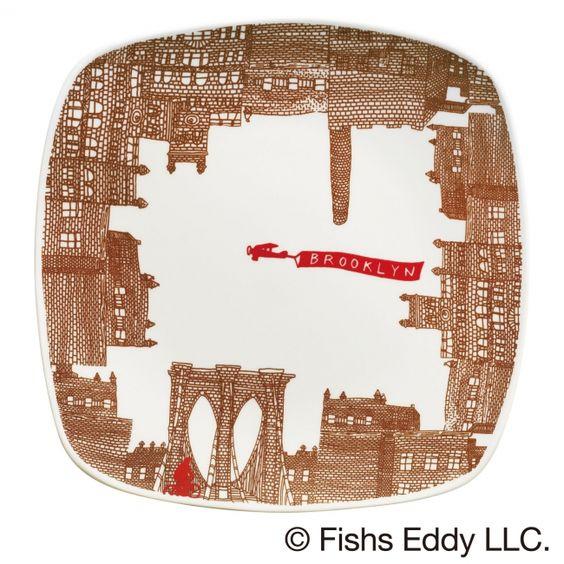 オリジナルプレート 〔サイズ〕直径約18.6㎝     〔素 材〕陶磁器  【ミスタードーナツ】『FISHS EDDY(フィッシュズエディ) オリジナルマグ』と『FISHS EDDY オリジナルプレート』を発売|ダスキンのプレスリリース