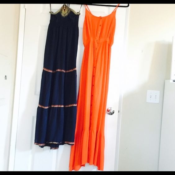 Maxi dress buy one get two! These are both super comfortable flowy maxi's. Both are great colors on any skin tone Forever 21 Dresses Maxi