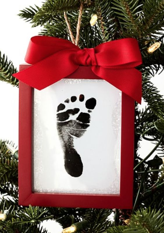 Baby's First Christmas Footprint