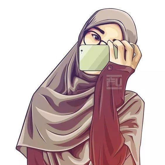 80 Gambar Kartun Muslimah Keren Cantik Sedih Dewasa Dyp Im