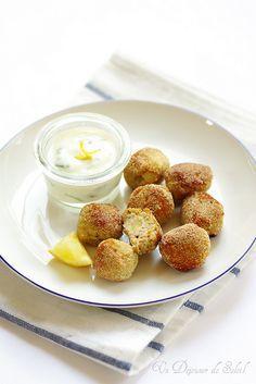 Polpette de lapin et pomme de terre, sauce yaourt aux herbes