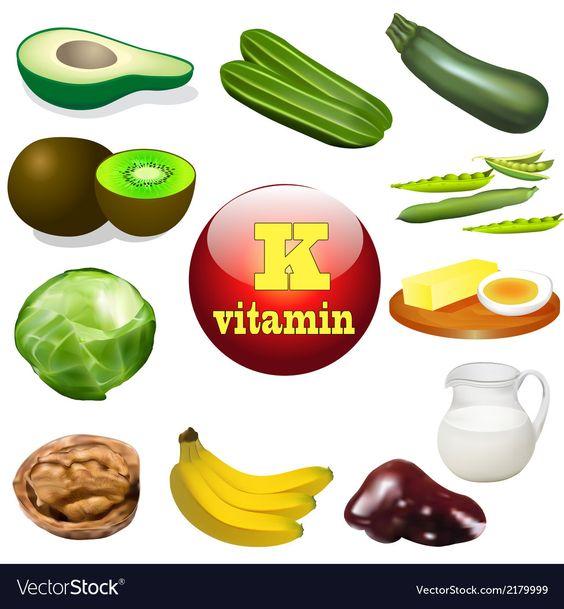 Vitamin K Royalty Free Vector Image - VectorStock