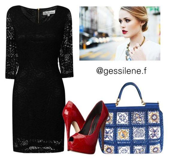 """vestidos"" by gessilene-ferreira on Polyvore featuring moda, Dolce&Gabbana, True Decadence e Giuseppe Zanotti"