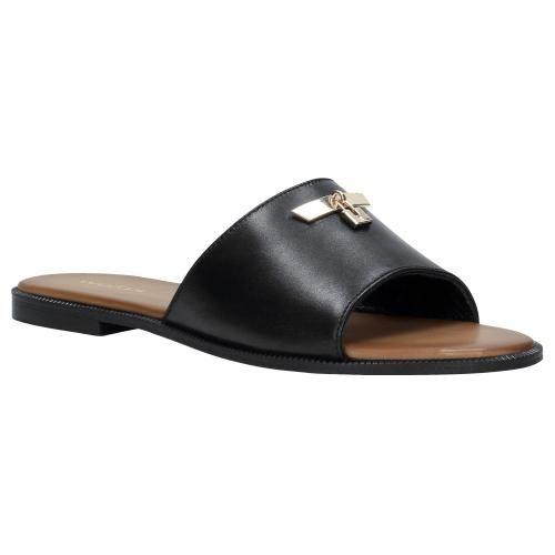 Czarne Klapki Damskie 74030 51 Shoes Sandals Fashion