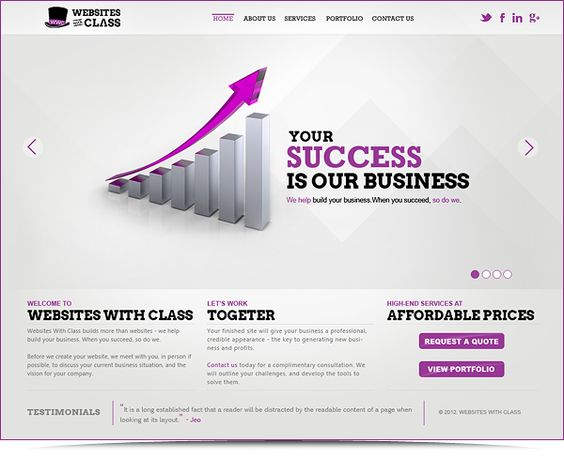 WebSitesWithClass - Branding - Website by Shakeeb AK, via Behance