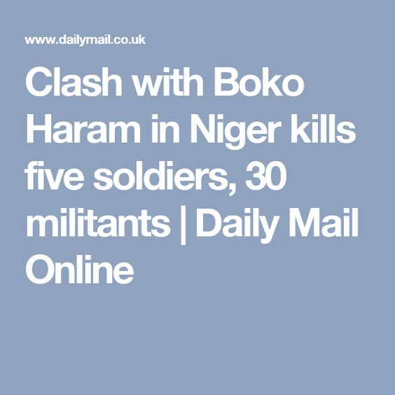 Clash with Boko Haram in Niger kills five soldiers, 30 militants | Daily Mail Online
