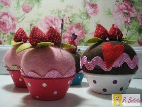 Casa Corpo e Cia.: Tutorial: Alfineteiro cupcake