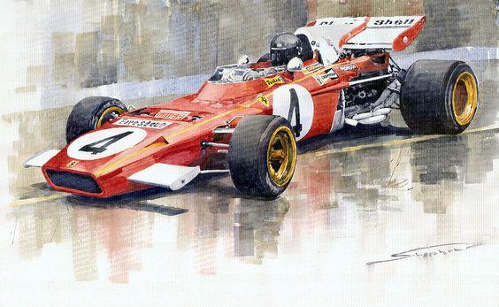 Ferrari 312 B2 1971 Monaco GP F1 Jacky Ickx