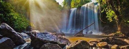 Waterfalls in Phnom Kulen National Park, Cambodia