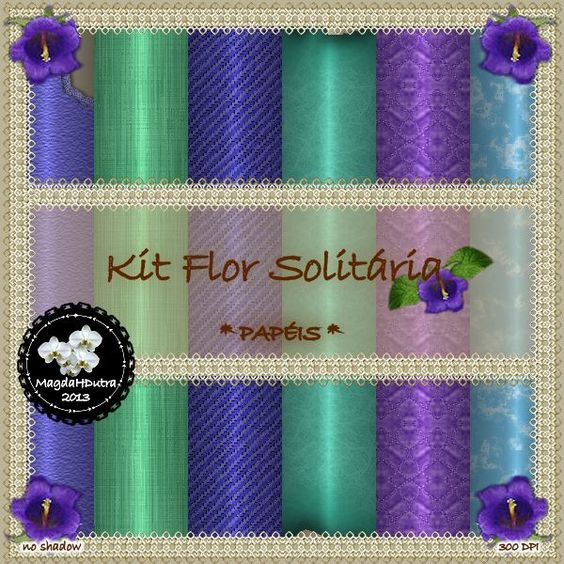 Kit Flor Solitária - Papéis