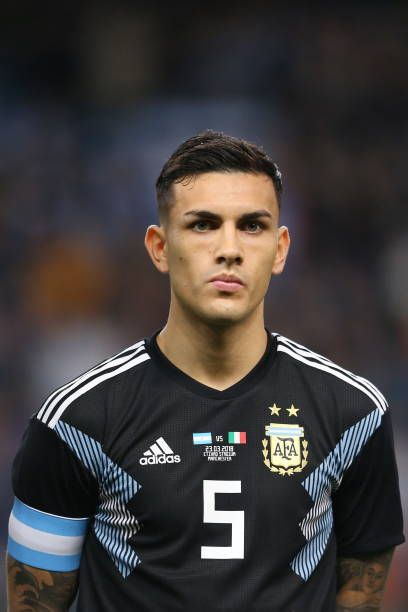 leandro paredes of argentina during an international friendly fixture between italy and argentina at e argentina football world football international football