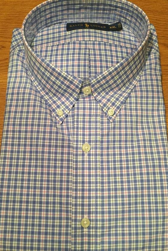Ralph Lauren White Long Sleeved Blue Logo Shirts