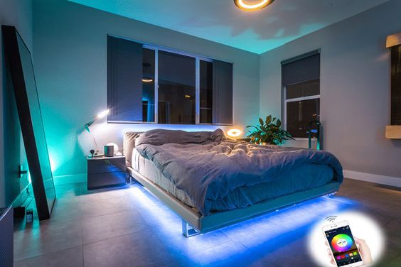 Wifi Smart Waterproof Led Strip Light Smart Phone Controlled Works With Android And Ios Ifttt Google Assistant And Alexa 16 4ft Rgb Color Changing For Bedroom In 2020 Under Bed Lighting Bed Lights Hue Philips