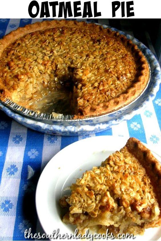 Oatmeal Pie-Old Fashioned Recipe
