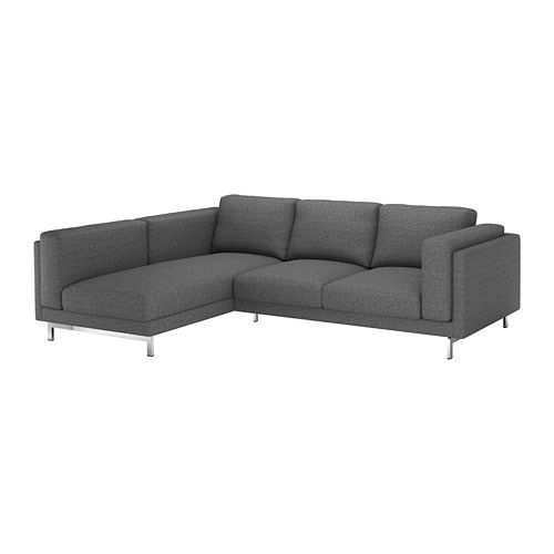 Nockeby Cover For 3 Seat Sofa Lejde With Chaise Longue Left Dark Grey Lejde With Chaise Longue Left Nockeby Sofa Cheap Sofas Sofa Frame