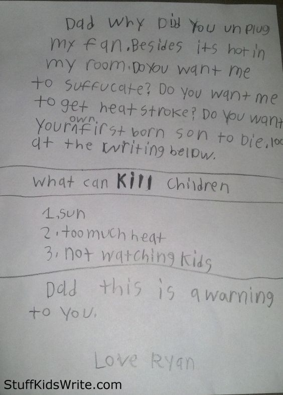 This kid whose next letter will be written in words cut from magazines. | 24 Kids Who Are In Dire Need Of An Exorcism