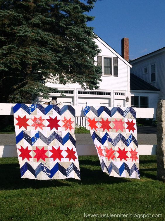 NeverJustJennifer patriotic quilt