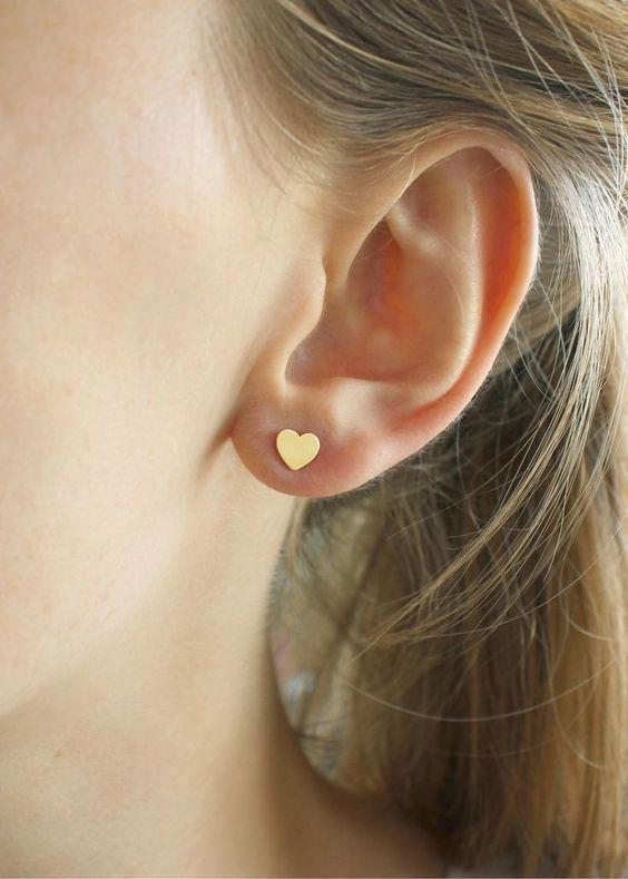 UK STAR STUD 18K YELLOW GOLD PLATE 925 SILVER EAR STUD EARRINGS LADY GIRL