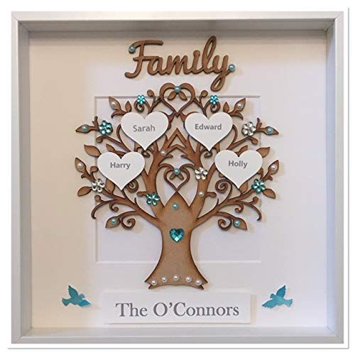 Gift 3D Box Frame,Wedding,Anniversary PERSONALISED FAMILY TREE