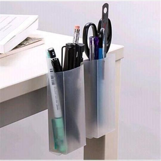 Multi-function Hollow Cylinder Pen Holder Pencil Storage Box Desktop Organizer