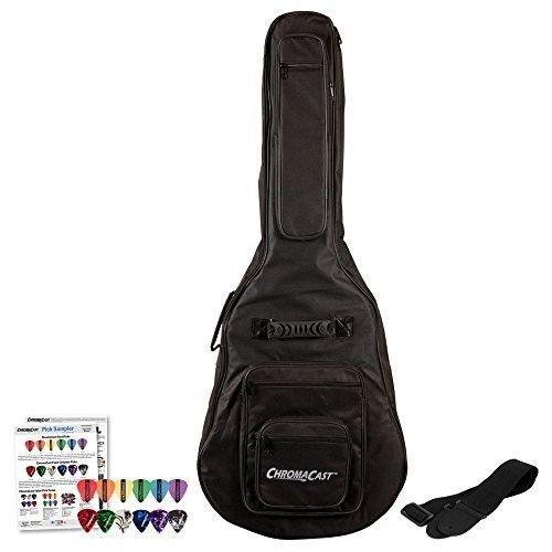 #GuitarBag #Gig #Case #Straps #Picks #Soft #Padded #Acoustic #Black #Backpack #6Pockets  #GODPS