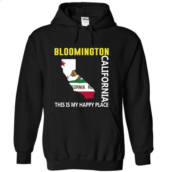 Bloomington, California - This Is My Happy Place - #tshirt kids #sweatshirt pattern. I WANT THIS => https://www.sunfrog.com/States/Bloomington-California--This-Is-My-Happy-Place-wgklrxavuw-Black-58415420-Hoodie.html?68278