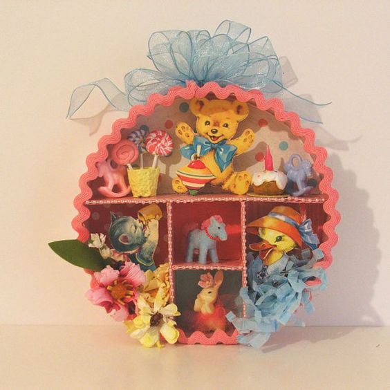 Childs Shadowbox by marileejanedesigns on Etsy, $24.00