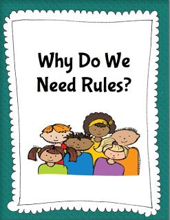 Teaching school/community/home rules lesson plan and activities