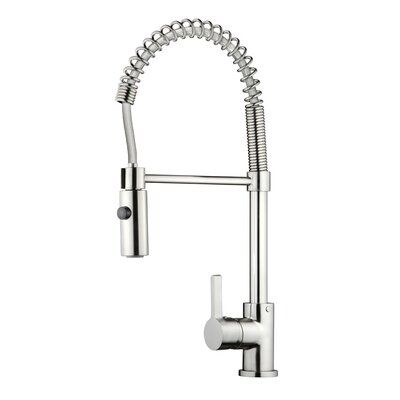Dowell Pull Down Single Handle Kitchen Faucet Finish Chrome