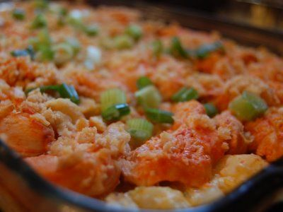 Buffalo Chicken and Potato Casserole, OMG so delicious!! I use Frank's Red Hot Buffalo Sauce
