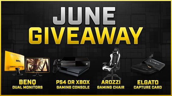 For their monthly #giveaway #EGSPN has some great #prizes. You can #win an #XboxOne Console or a #PlayStation4 Console or Dual #BenQ LED LCD Monitors or an #Arozzi Gaming Chair or an #Elgato HD Pro Capture Card.
