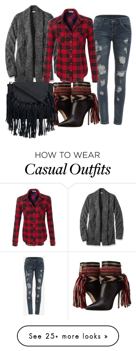 """""""Casual"""" by subvilli on Polyvore featuring L.L.Bean and Dsquared2"""