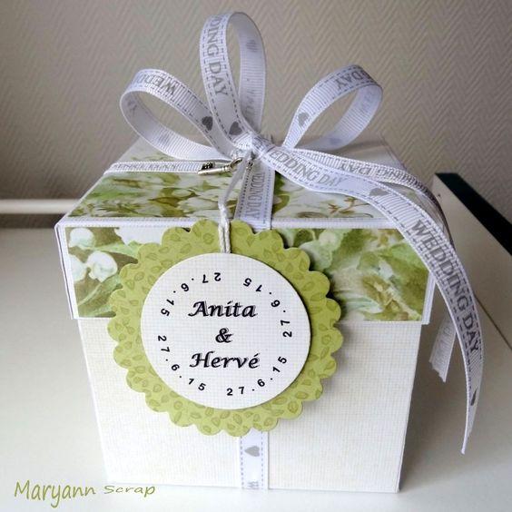 Autre vue de la boite à explosion porte-billets pour Mariage Anita & Hervé. Détail sur le blog : http://maryann-scrap.blogspot.fr/2015/06/boite-mariage-anita-herve.html