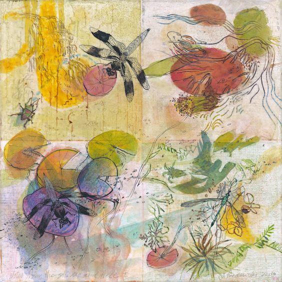 """Water Garden, 10 x 10"""" image"""