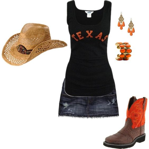 """Texas Longhorns Outfit"" by maria-garza on Polyvore"