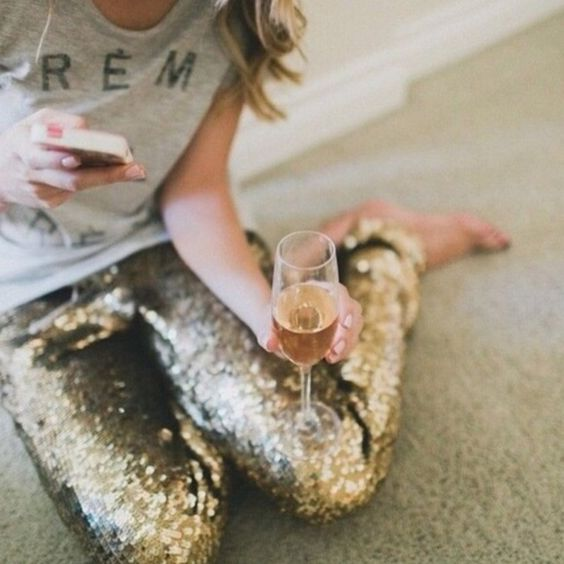Gorgeous Gold Sequin Leggings