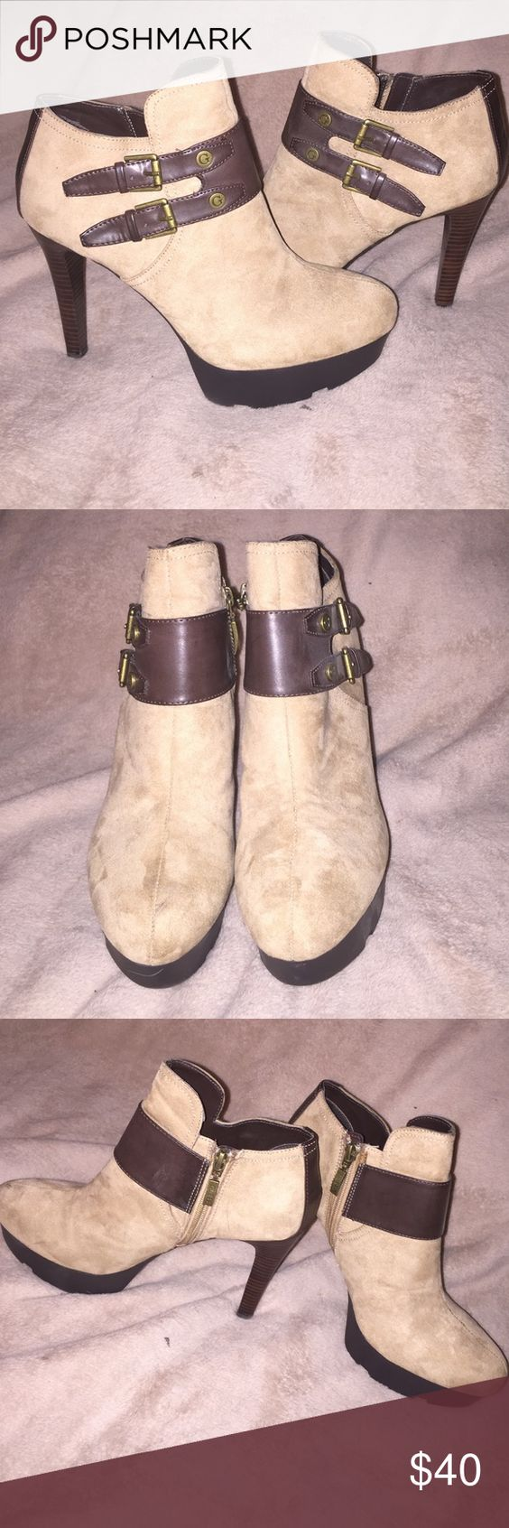 Guess Ankle Boot Guess Ankle Boot. Brown & Tan. Barely worn. Heel Height 5 inches Guess Shoes Ankle Boots & Booties