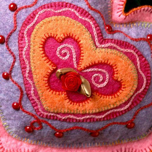 Balsam heart pillow from Felt Wee Folk