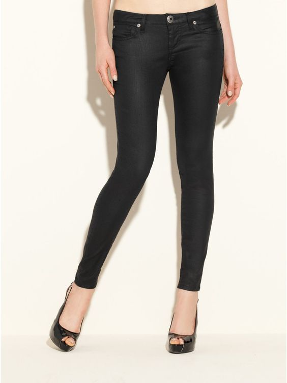 GUESS Power Skinny Jeans with Rinse, SILICONE RINSE (31)
