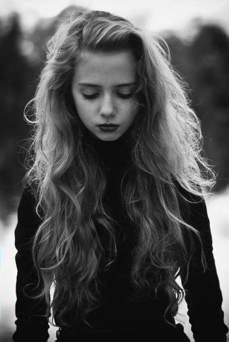 long flowing beautiful hair.