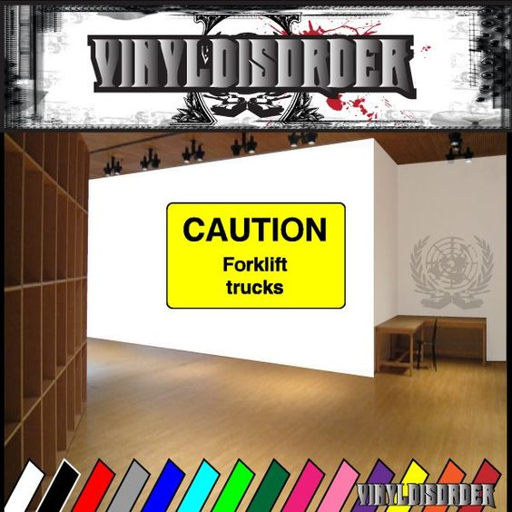 Caution Sign Wall Decal - Vinyl Sticker - Car Sticker - Die Cut Sticker - CD037
