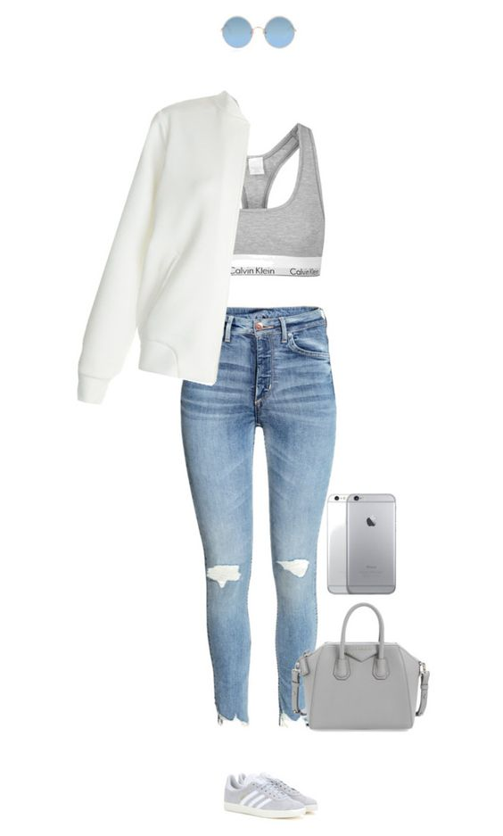"""Summer feel all the way !"" by azzra on Polyvore featuring Topshop, New Look, adidas Originals, Givenchy, Sunday Somewhere, bomberjackets and simpleserenity"