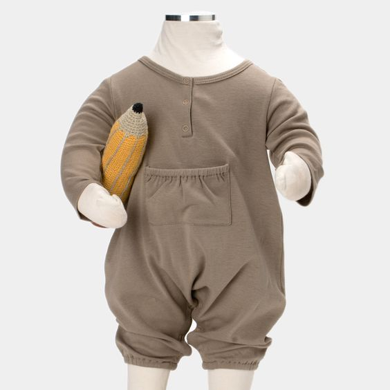 Luxurious Organic Infant and Baby Clothing: onesies : Henley Balloon Onesie