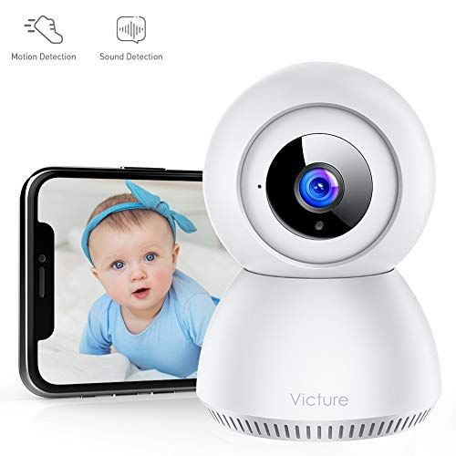 Victure 1080P FHD Security Camera with Smart Motion Tracking Sound Detection 2.4G WiFi Pet Camera Two-Way Audio Surveillance Camera Home Baby Cam with Night Vision
