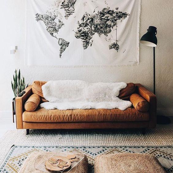 Trang trí nội thất gia đình đẹp khi mua sofa da tphcm