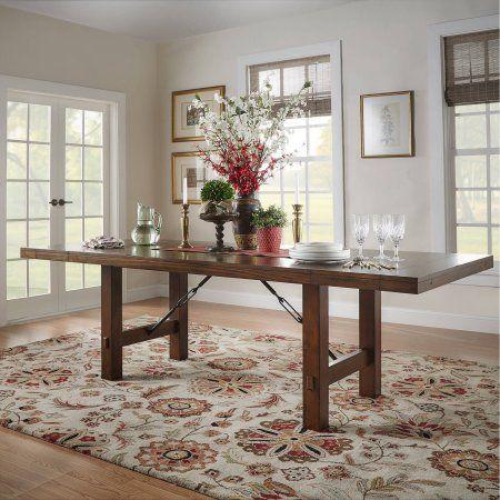 Weston Home Clayton Dining Table, Rustic Oak