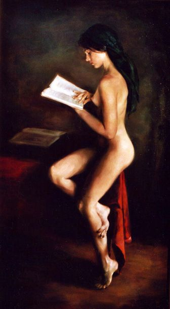 Nude reading -Miles Williams Mathis    سلملى عليه: